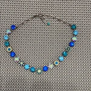 Gem stone and Swarovski crystal necklace.